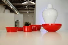 Red and white objects #design #interiors #objects