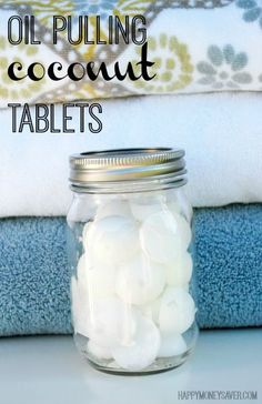These Oil Pulling Coconut Tablets are the BEST (and the ONLY, in my opinion) way to Oil Pull! They are SUPER easy to make and have many health benefits! - happymoneysaver.com