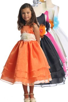 This create your own girls dress allows you to select your own dress and sash color. This is perfect for a flower girl dress, wedding, party, or any other special event.  Sleeveless