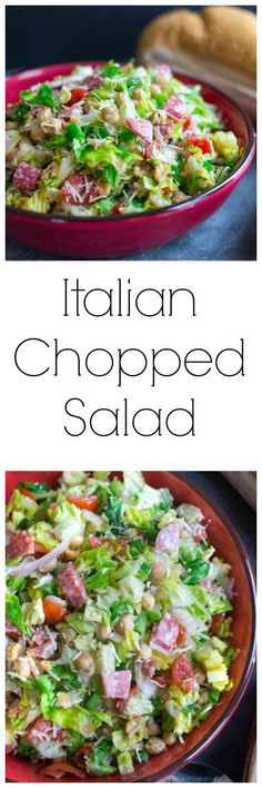 Italian Chopped Salad ✈✈✈ Don't miss your chance to win a Free International Roundtrip Ticket to Italy from anywhere in the world **GIVEAWAY** ✈✈✈ https://thedecisionmoment.com/free-roundtrip-tickets-to-europe-italy/