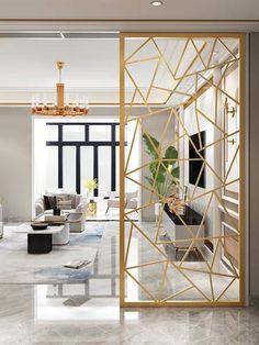 Living Room Partition Design, Living Room Tv Unit Designs, Room Partition Designs, Home Design Living Room, Living Room Decor, Modern Window Grill, Window Grill Design, Luxury Interior, Modern Interior Design