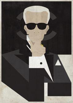 Poster del mondo della Moda realizzate dall'artista Mr. Burt