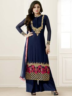 An excellent designer piece will add stars in your beauty.  Item Code: SLHD83009 http://www.bharatplaza.com/new-arrivals/salwar-kameez.html
