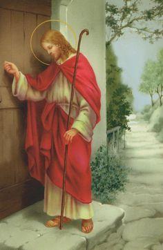 Jesus knocking at the door.