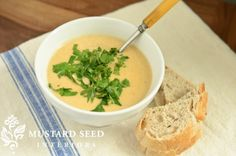 Roasted Califlower Soup.  I am going to make this dairy free by eliminating milk for a can of coconut milk.