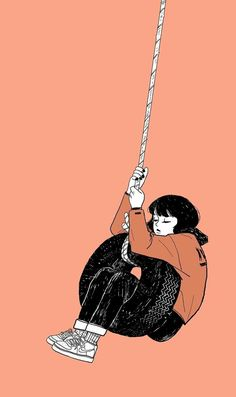 New Drawing Sad Alone 17 Ideas - Wallpaper Quotes Pastel Wallpaper, Girl Wallpaper, Cartoon Wallpaper, Wallpaper Backgrounds, Animes Wallpapers, Cute Wallpapers, Girl Cartoon, Cartoon Art, Aesthetic Art