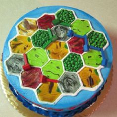 Settlers of Catan cake. Awesomeness!