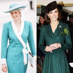Princess Diana and Kate Middleton's Similar Style
