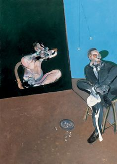 """Two Studies for a Portrait of George Dyer"" by Francis Bacon, 1968"