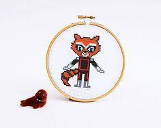 ROCKET Raccoon Parody #Crossstitch Pattern PDF   Boy di POWSTITCH