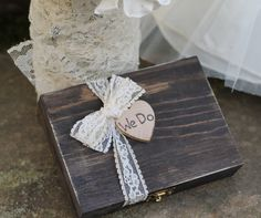 Wedding Ring Pillow Ring Bearer Box We Do Box by MichelesCottage, $31.50