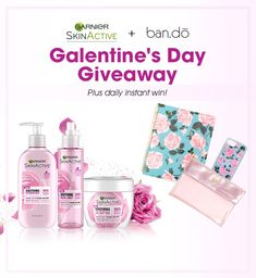 I just played the Galentine's Day Giveaway from Garnier SkinActive and ban.do! Play too and we both have a chance to win a spa day from Garnier SkinActive and $150 ban.do gift card! ENTER NOW. Ends 2/28/18