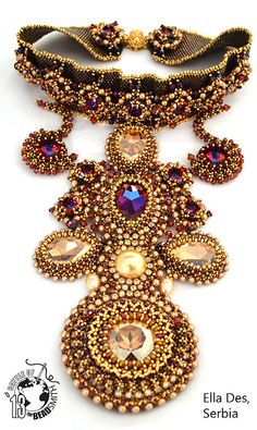"Ellad2.com 1 ""Vibrant abundance"" submission for Battle of the Beadsmith 2013 Via Flickr ellad2"