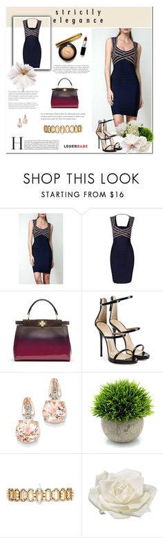 """Womens Dress Shops-Legerbabe Dresses"" by legerbabedress ❤ liked on Polyvore featuring Fendi, Giuseppe Zanotti, BillyTheTree, Erickson Beamon and Allstate Floral"