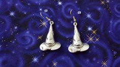 Harry Potter Sorting Hat  Earrings by Th1rte3nsCloset on Etsy, $10.00
