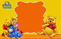 Winnie the Pooh: Invitaciones para Imprimir Gratis.