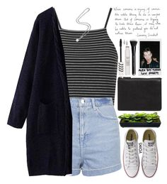"""""""use kind words or be silent. (desc) ♡"""" by alienbabs ❤ liked on Polyvore featuring Topshop, Pixie, Polaroid, ASOS, Converse, women's clothing, women's fashion, women, female and woman"""