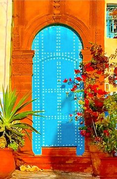 #Looking for some inspirational door ideas for your #renovation project, here's some #doors from around the world -  Rabat, Morocco door http://www.myrenovationmagzine.com