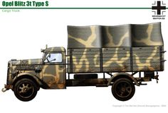 Opel Blitz 3-ton TypS Military Weapons, Military Art, Military History, Armored Truck, Armored Vehicles, World War Two, Scale Models, Military Vehicles, Germany