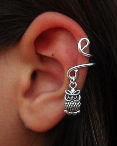 Ear Cuff  Cute Owl / Non Pierced / Cute Owl  Ear Cuff- Left Ear #Halloween #owl #jewelry www.loveitsomuch.com