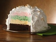 Holiday Baked Alaska. I have to try and make this!!!