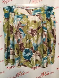 709634c21fc Talbots Size 24W Multi-Colored Floral Skirt