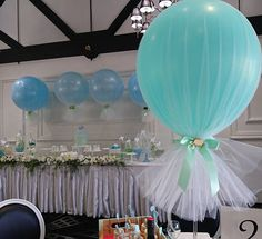 Mint, baby blue and gold elephant theme christening styled by…