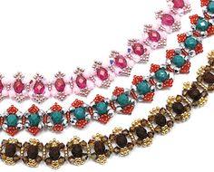 Around The Beading Table: free crystal bracelet pattern