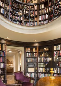 This Detailed Two Story Library Is 360 Degrees Of Style Class And Inspiration Take A Spin Through The Pics Project By Kansas City Interior