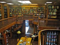The St. Johnsbury Anthenaeum in Vermont not only serves as a public library holds an art gallery. This building looks beautiful from the inside out with a wooden interior that emanates that classic feel.