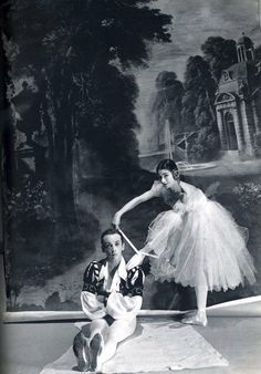 Margot Fonteyn and Robert Helpmann  Photo by Norman Parkinson
