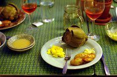 Roasted Asparagus and Baby Artichokes with Lemon-Oregano Aioli | Best ...