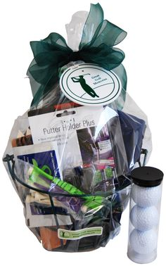 Spectacular Unforgetable Golf Gift That No Golfer Will Forget Ideas Golf Gifts The Open Golf Gift Basket – GreatGolfMemories… Golf Gifts For Men, Presents For Men, Golf Tournament Gifts, Golf Clubs, Fundraiser Baskets, Golf Ball Crafts, Golf Cart Accessories, Name Gifts, Neighbor Gifts