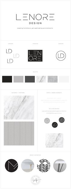 Brand Launch: Lenore Interior Design - Salted Ink Design Co. - Brand Launch: Lenore Interior Design – Salted Ink Design Co. Wm Logo, Logo Branding, Type Logo, Business Branding, Branding Agency, Corporate Branding, Corporate Design, Brand Identity Design, Brand Design