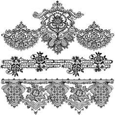 Shery K Designs: Lace Border | Free Digi Stamps