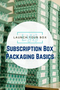 """Packaging is one of my most favorite parts of my subscription box! This is the face of your company. The first thing everyone will see each time their subscription arrives. With """"all the things"""" you have to keep in order when starting a subscription box, packaging can be one of the most fun and stressful. Here is my breakdown of subscription box packaging basics you need to know to launch your box. #launchyourbox #startasubscriptionbox Subscription Box Packaging Basics Brand Packaging Guide Gift Subscription Boxes, Coffee Subscription, Box Packaging, Packaging Design, Brand Packaging, Care Package Decorating, Coffee Box, Box Design, Online Business"""
