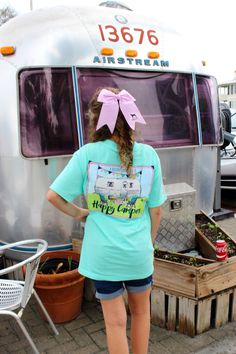 Can't get enough of the happy camper shirt? Pair it with our Southern Girl Prep preppy bow!!! southerngirlprep.com