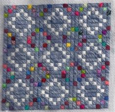 Wedding Day free needlepoint quilt pattern, copyright Napa Needlepoint