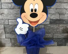 Mickey mouse centerpiece by yoyisfoamworld on Etsy Mickey Mouse Clubhouse Birthday Party, Mickey Party, Mickey Mouse Parties, Mickey Mouse Birthday, Minnie Mouse Theme Party, Fiesta Mickey Mouse, Mickey Minnie Mouse, Mickey Mouse And Friends, Minnie Mouse Baby Shower