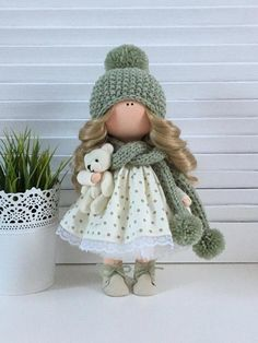 Winter Doll Christmas Doll Handmade Doll Gray Soft Doll Art Rag Doll Fabric Doll Nursery Doll Cloth Doll Toy Poupée Textile Doll by Tanya A __________________________________________________________________________________________ Hello, dear visitors! Doll Crafts, Diy Doll, Doll Toys, Baby Dolls, Rag Doll Tutorial, New Dolls, Soft Dolls, Cute Dolls, Fabric Dolls