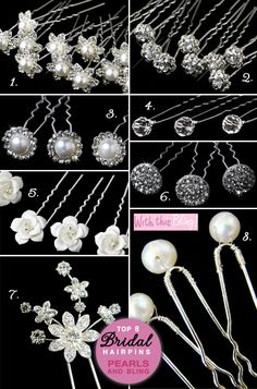 "Bridal Hair Pins . . . say bye bye to bobby pins and ""hello"" to bling"