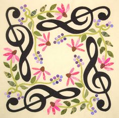 G Clef Flower Wreath