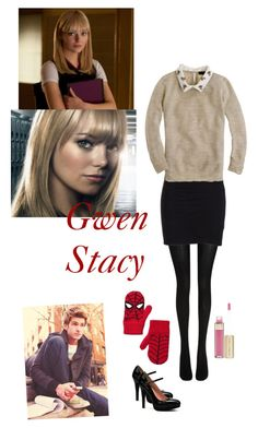 Gwen Stacy 2 by lj-case on Polyvore featuring polyvore, fashion, style, J.Crew, James Perse, Wolford, Dolce&Gabbana, Gap, Beautiful People and clothing