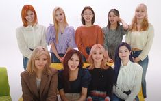 """""""TWICE as in their new hair colors and styles for the very first time! South Korean Girls, Korean Girl Groups, Twice Group, Twice Once, U Kiss, Im Nayeon, My Big Love, Dahyun, Extended Play"""