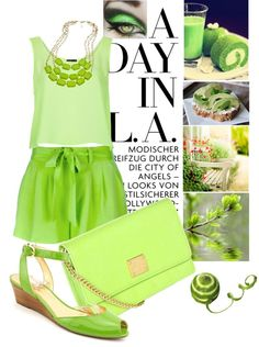 """lime set"" by airora on Polyvore"