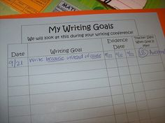 writing conference sheet- this could help with my writing goals in January