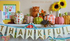 THANKFUL -- a Sweet and Simple Autumn Banner / Bunting