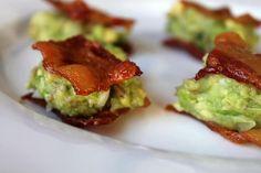 Guacamole topped bacon bites  #keto, #lowcarb