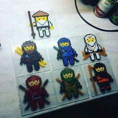 Lego Ninjago hama beads by parlnordarna perler Perler Beads, Fuse Beads, Perler Bead Designs, Hama Beads Design, Motifs Perler, Perler Patterns, Pony Bead Crafts, Art Perle, Beading For Kids