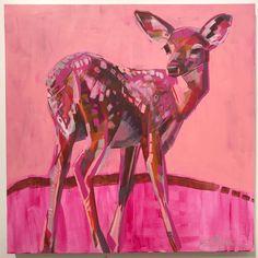 Deer Painting by Kate Mullin Williford. www.katemullinart.com